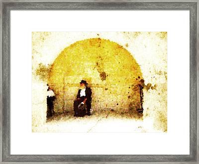 Hasidim Framed Print