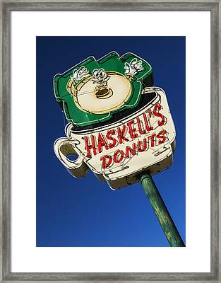 Haskell's Donuts #1 Framed Print