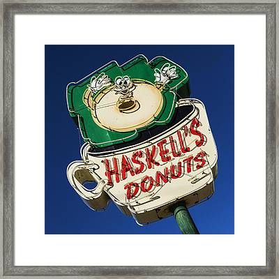 Haskell's Donuts Sign #1 Framed Print