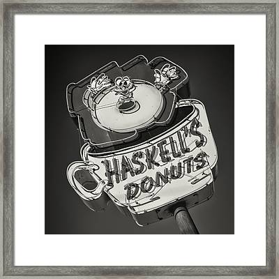 Haskell's Donuts Sign #2 Framed Print