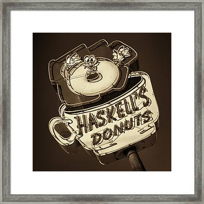 Haskell's Donuts Sign #3 Framed Print