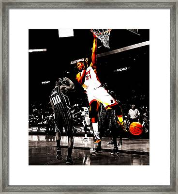 Hassan Whiteside Framed Print by Brian Reaves
