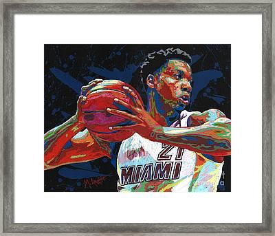 Hassan Whiteside Framed Print
