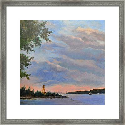 Hastings Skyscape Framed Print by Phyllis Tarlow