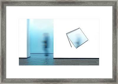 Hasty Visit Framed Print