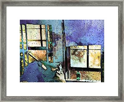 Hat And Glass Bottle Framed Print