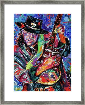 Hat And Guitar Framed Print by Debra Hurd