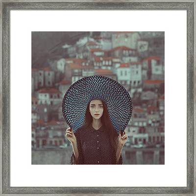 Hat And Houses Framed Print by Anka Zhuravleva