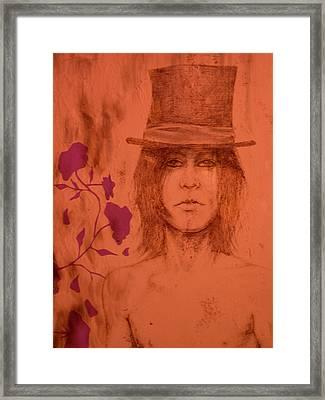 Hat Boy Framed Print by J Oriel