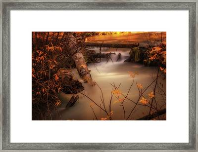 Hat Creek In Gold Framed Print
