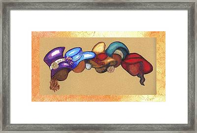 Framed Print featuring the mixed media Hat Ladies by Alga Washington