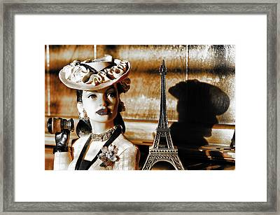 Hat Lady Of Paris Framed Print by Greg Sharpe
