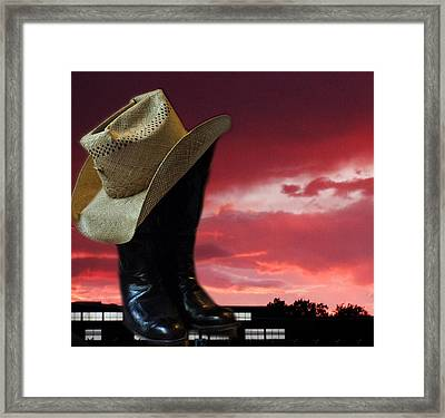 Hat N Boots 11 Framed Print by Chuck Shafer