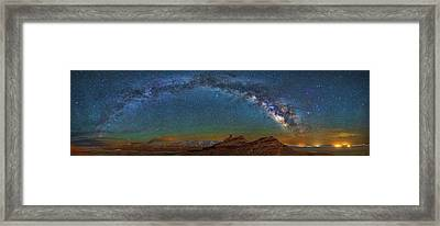 Hat Rock Milky Way Framed Print