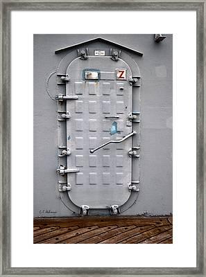 Hatch Secured Framed Print by Christopher Holmes
