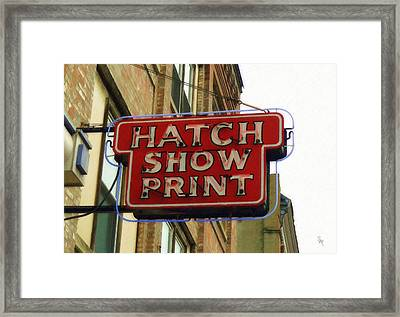 Framed Print featuring the painting Hatch Show Print by Sandy MacGowan