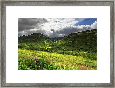 Hatcher's Valley Framed Print by Ed Boudreau