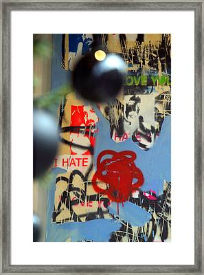 Hate Love Hate Love Framed Print by Jez C Self