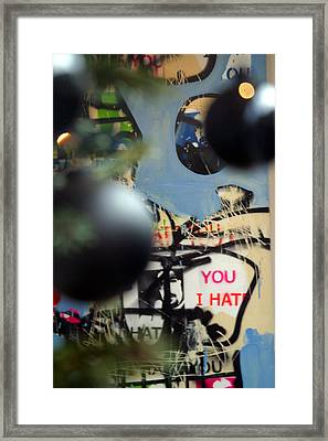 Hate You Framed Print by Jez C Self