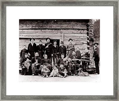 Hatfield Clan In 1897. Their Feud Framed Print by Everett