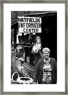 Hatfield's Information Center Framed Print by Todd Fox