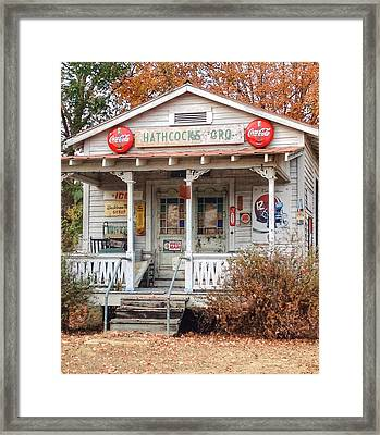 Hathcock's Grocery Framed Print by Haley Edwards