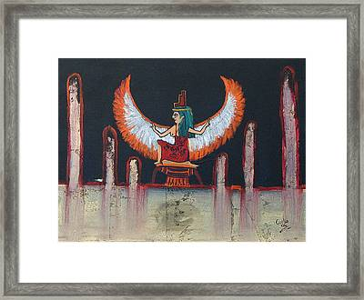 Hathor Framed Print by Corlia Chameleon