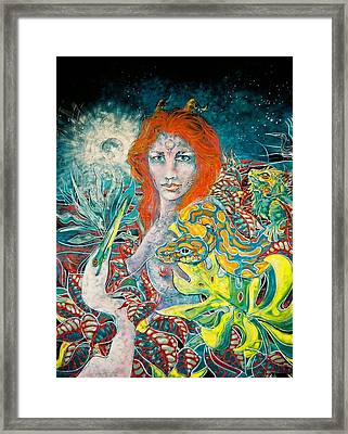 Hathor- Egyptian Goddess Framed Print by Patrick Stickney