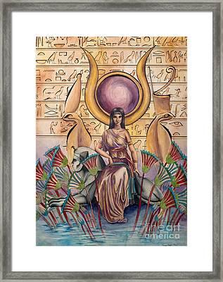 Hathor Framed Print by Georges Loewenguth
