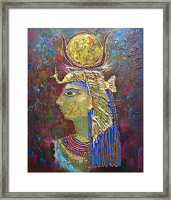 Hathor. Goddess Of Egypt Framed Print by Valentina Kondrashova