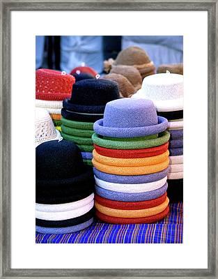 Hats, Aix En Provence Framed Print