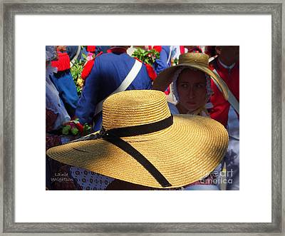 Hats In Saint Tropez Framed Print