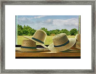 Hats Framed Print by Nikolyn McDonald