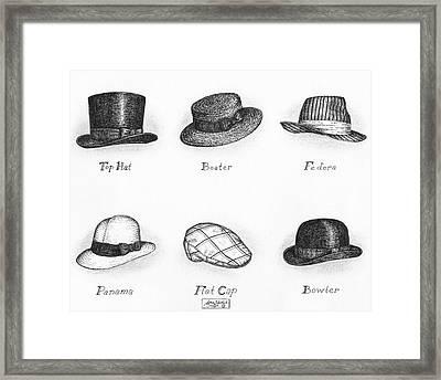 Hats Of A Gentleman Framed Print by Adam Zebediah Joseph