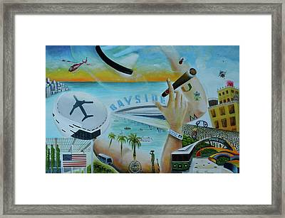 Hats Off To Miami Framed Print by Blima Efraim