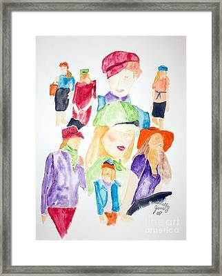 Hats Framed Print