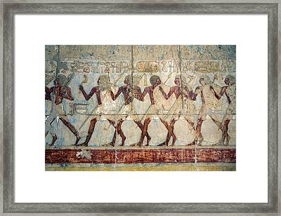 Hatshepsut Temple Parade Of Soldiers Framed Print