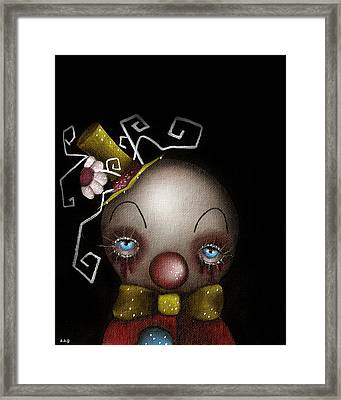 Hatter Clown Framed Print by  Abril Andrade Griffith