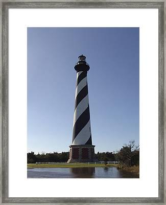 Hatteras Lighthouse Framed Print by Tina B Hamilton