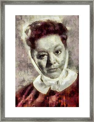 Hattie Jacques, Carry On Actress Framed Print by John Springfield