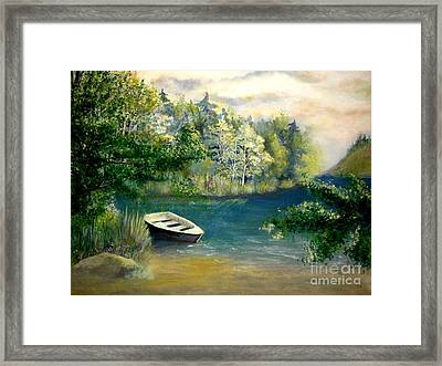 Hatzec Lake Framed Print by Vivian  Mosley