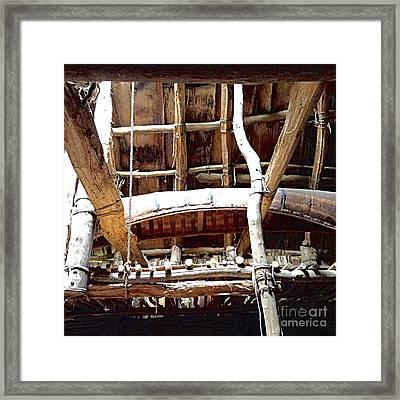 Haudenosaunee Longhouse  Framed Print