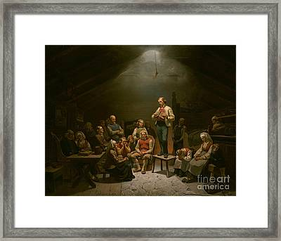 Haugianerne Low Church Devotion Framed Print by Celestial Images