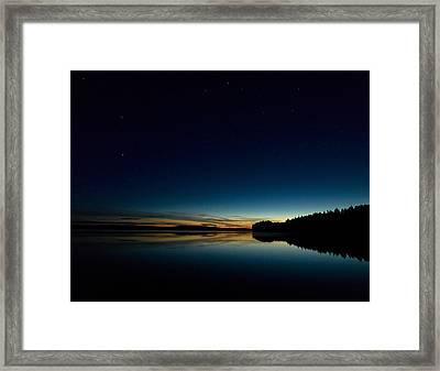 Framed Print featuring the photograph Haukkajarvi By Night With Ursa Major 1 by Jouko Lehto
