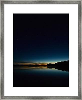 Framed Print featuring the photograph Haukkajarvi By Night With Ursa Major 2 by Jouko Lehto