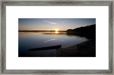 Framed Print featuring the photograph Haukkajarvi Evening by Jouko Lehto