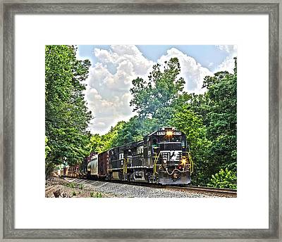 Hauling Freight Framed Print