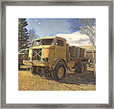 Hauling Oil Barrels On Old Canol Pipeline Project Framed Print