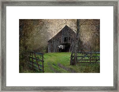 Haunted Barn Framed Print by Lisa Moore