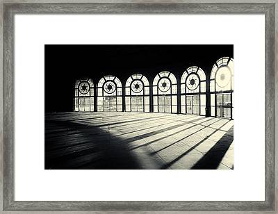 Haunted Carousel House Framed Print by Allison Coffin